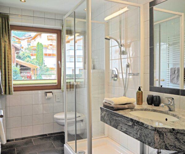 Badezimmer in unserer 1-Zimmerwohnung