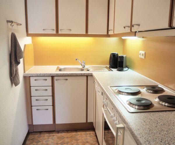 Küche in der 1-Zimmerwohnung